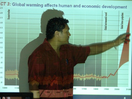UNDP Climate Change Officer points out the trends.